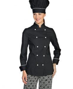 giacca lady extra light nera prof bianca