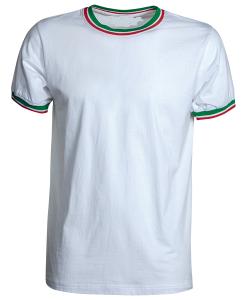 tshirt bianca con tricolore