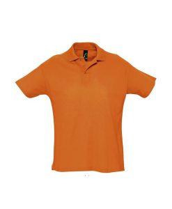 polo uomo fronte - arancio