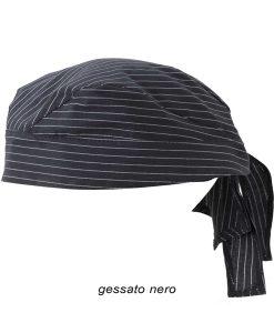 bandana gessato nero