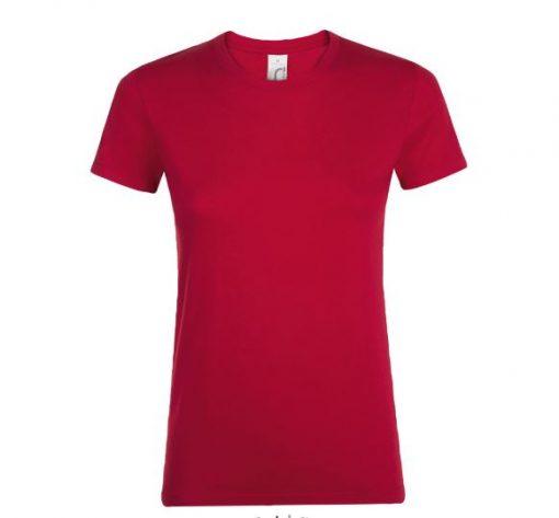 t-shirt donna rossa - fronte
