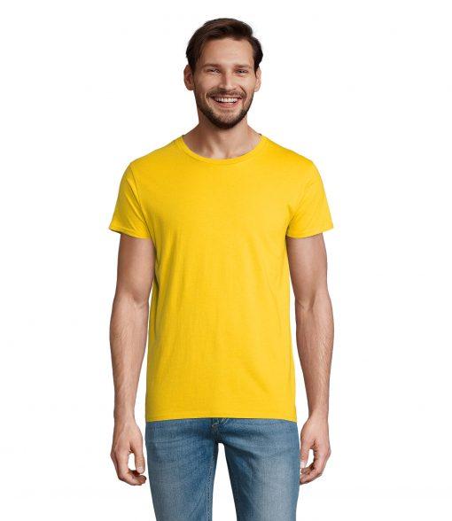 t-shirt uomo fronte - giallo oro